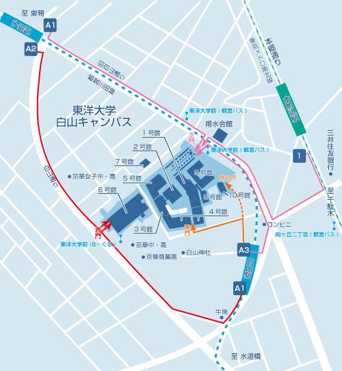 東洋大学地図